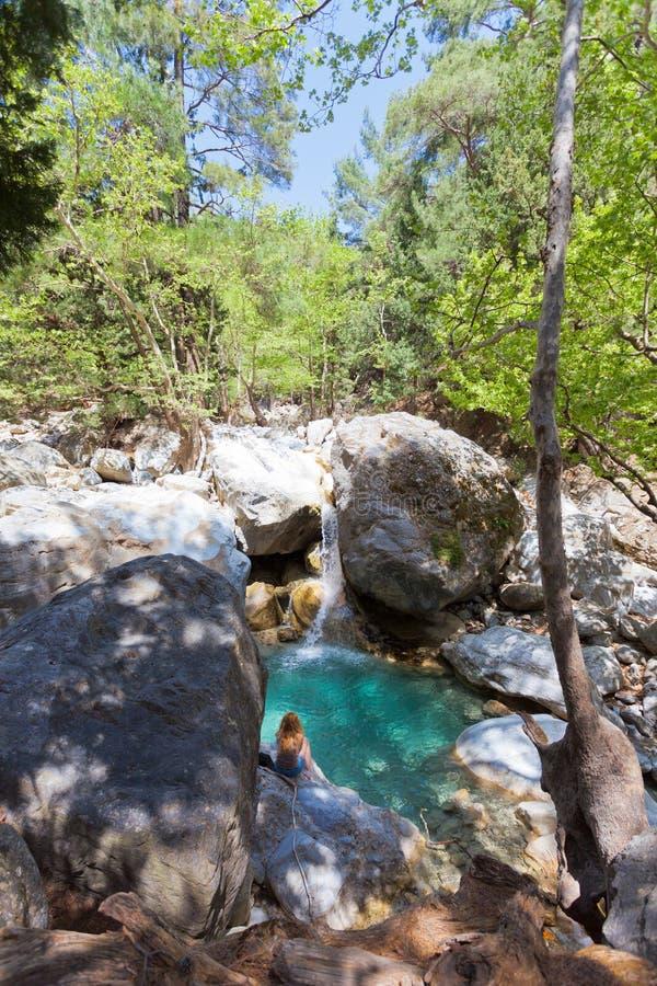 Идиллия ущелья Samaria стоковое изображение