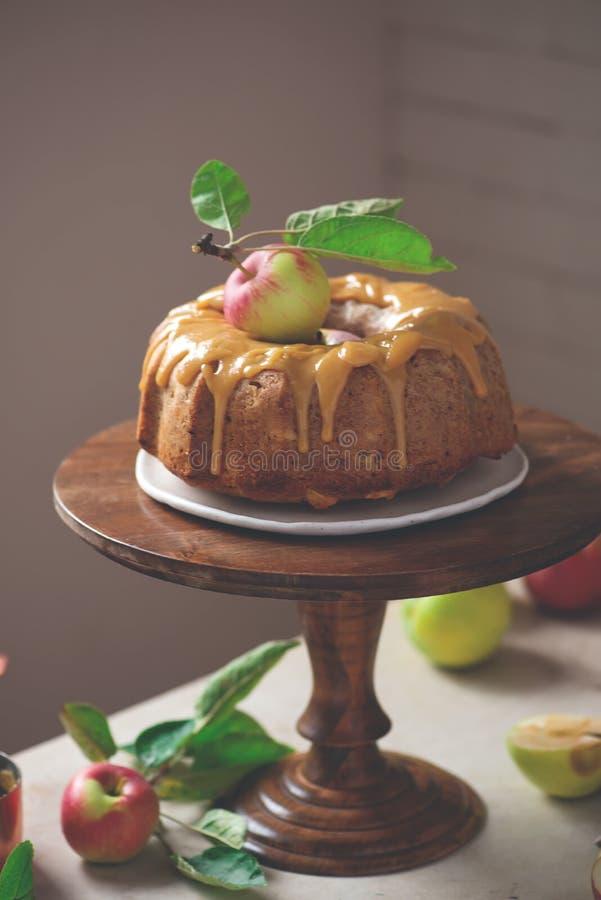 И карамелька меда Spiced кардамоном все торт Яблока пшеницы стоковые изображения