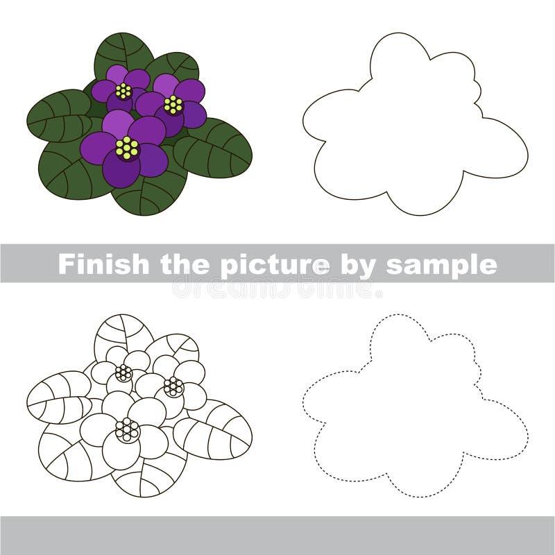 лилово Рабочее лист чертежа иллюстрация вектора