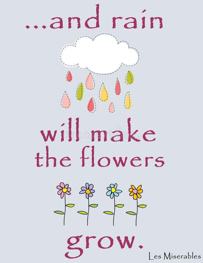 И дождь сделает цветки вырасти стоковые изображения