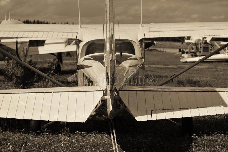 И самолет сказал: «Я хочу лететь» стоковые изображения
