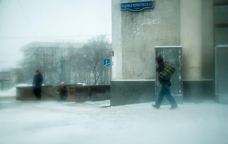 Идти снег в Москве стоковые изображения