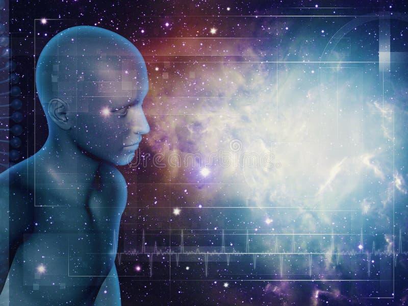 Идти через вселенную иллюстрация вектора