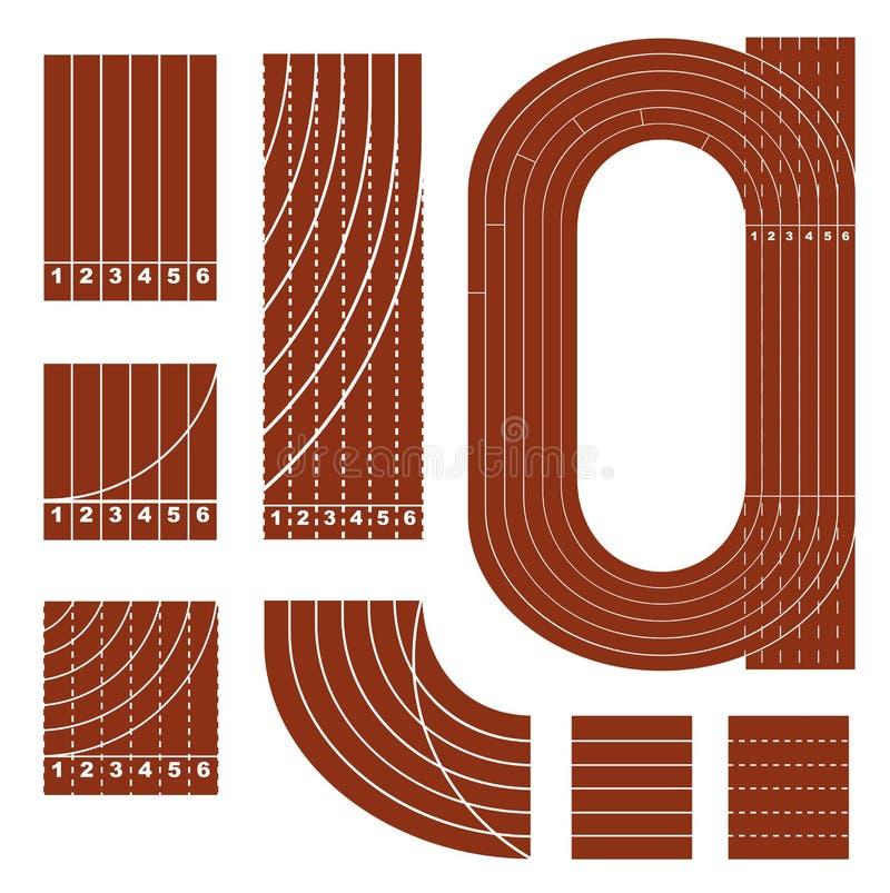 Идущая линия комплект следа иллюстрация вектора