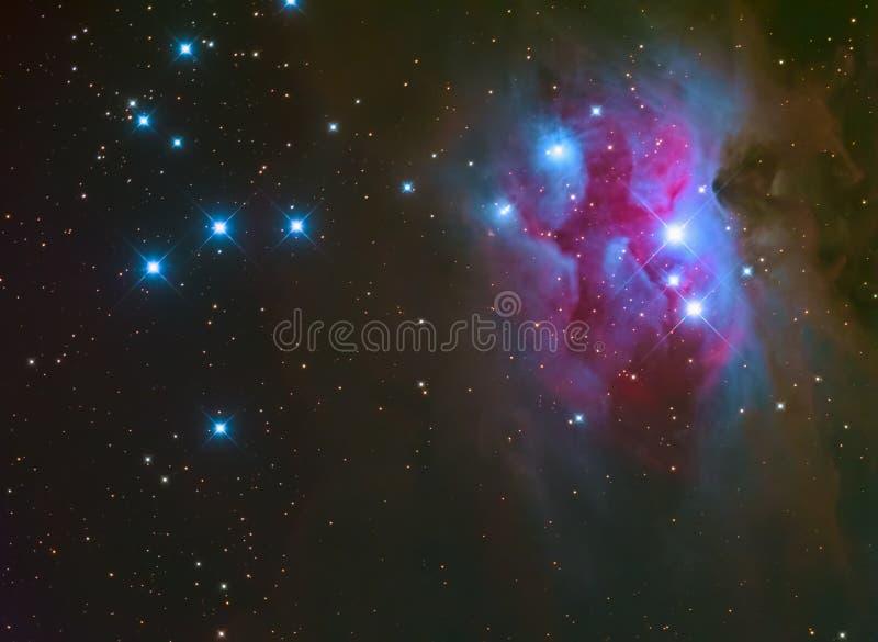 Идущее межзвёздное облако человека в Орионе стоковая фотография rf