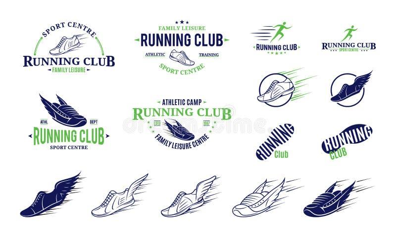 Идущие ярлыки клуба, значки и элементы дизайна бесплатная иллюстрация