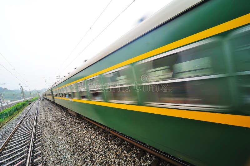 Идущий поезд китайца стоковые изображения rf