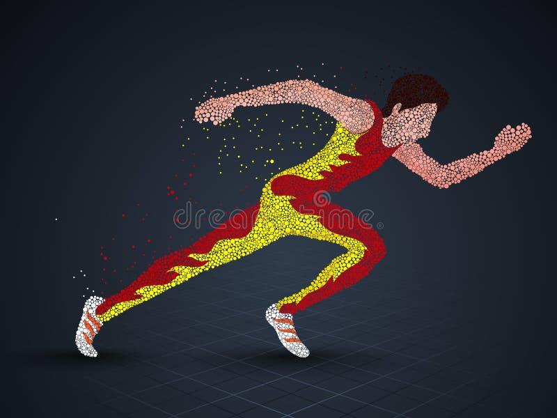 Идущий человек для концепции спорт бесплатная иллюстрация