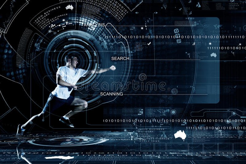 Download Идущий человек стоковое изображение. изображение насчитывающей тренировка - 41651009