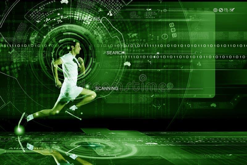 Download Идущий человек стоковое изображение. изображение насчитывающей воссоздание - 41651415
