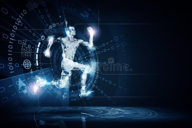 Download Идущий человек стоковое изображение. изображение насчитывающей свет - 41652263