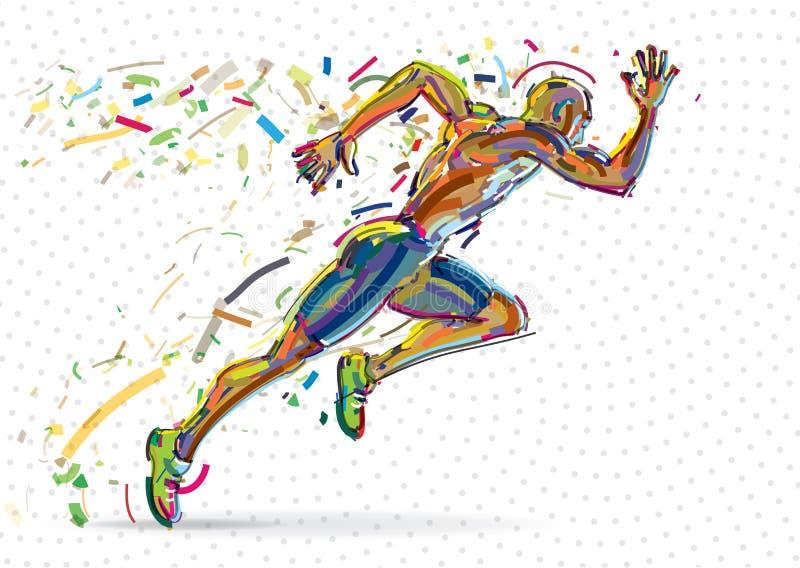 Идущий человек иллюстрация вектора