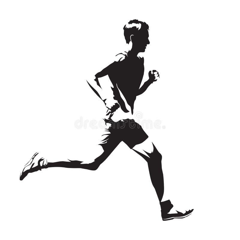 Идущий эскиз вектора человека, абстрактный силуэт иллюстрация вектора