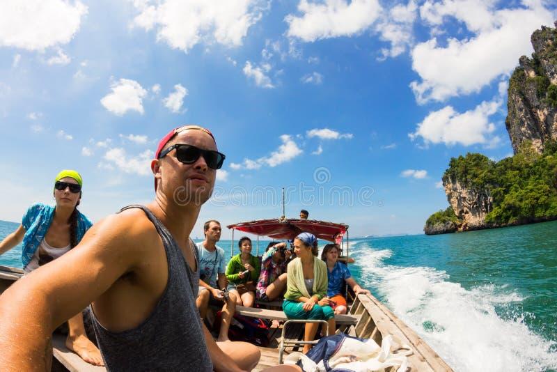 Идущ для приключений, Krabi, Таиланд стоковое фото rf