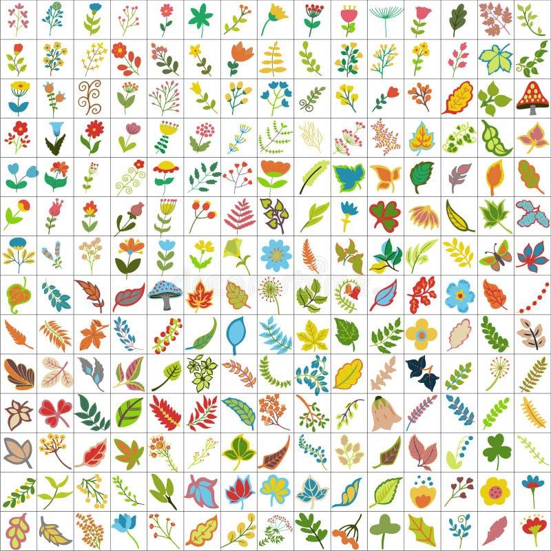 200 и 10 элементов заводов иллюстрация вектора