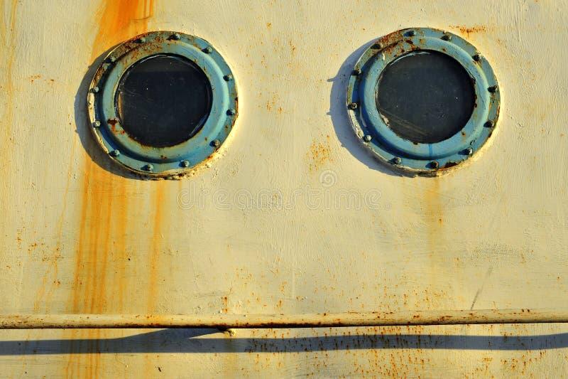 Иллюминаторы на старых кораблях стоковые фотографии rf
