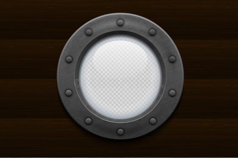 Иллюминатор корабля металла с прозрачным стеклом (прозрачность в дополнительном формате только) бесплатная иллюстрация
