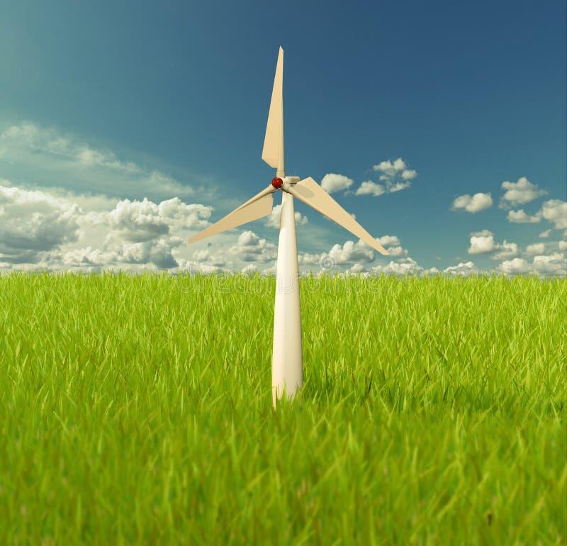 Иллюстратор ветрянки на небе стоковая фотография
