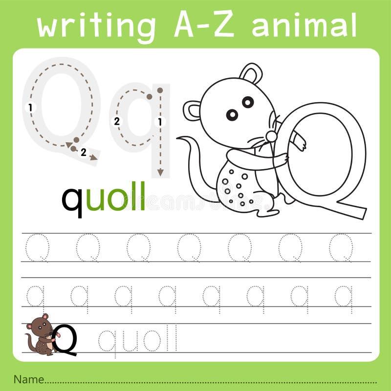 Иллюстратор записи от начала до конца животного q бесплатная иллюстрация