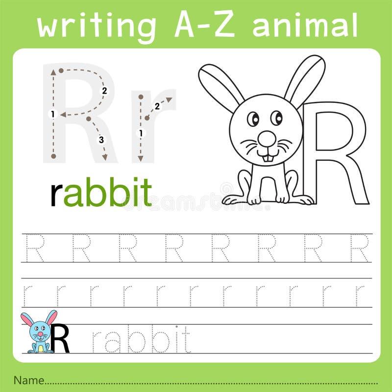 Иллюстратор записи от начала до конца животного r бесплатная иллюстрация