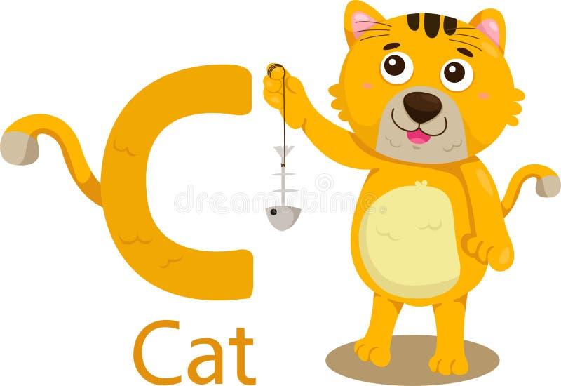 Иллюстратор c с котом бесплатная иллюстрация