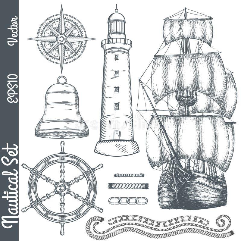 Иллюстрации нарисованные рукой морские бесплатная иллюстрация