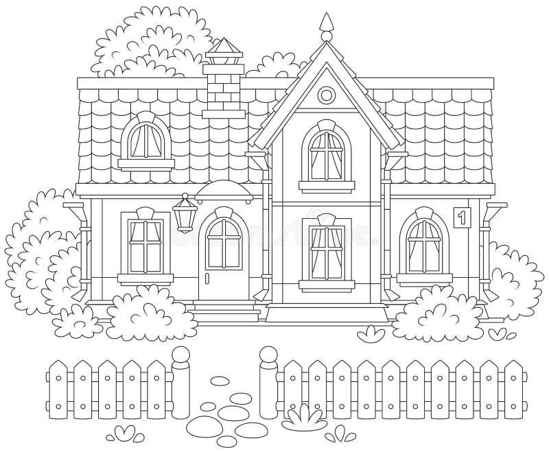 иллюстрации дома чертежа село эскиза домашней сельское иллюстрация штока