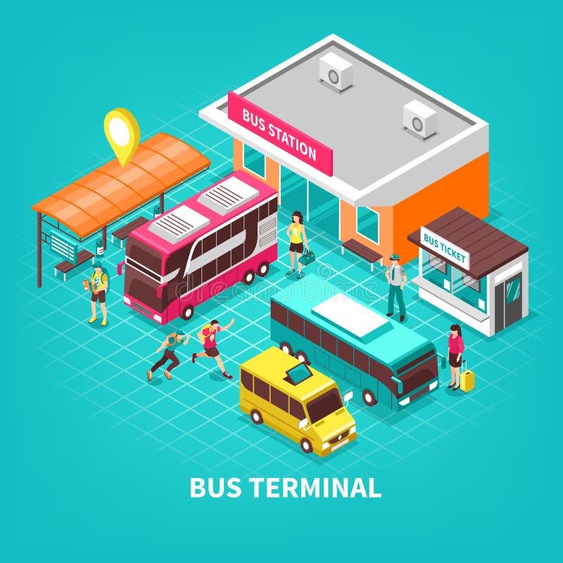 Иллюстрация автовокзала равновеликая иллюстрация штока