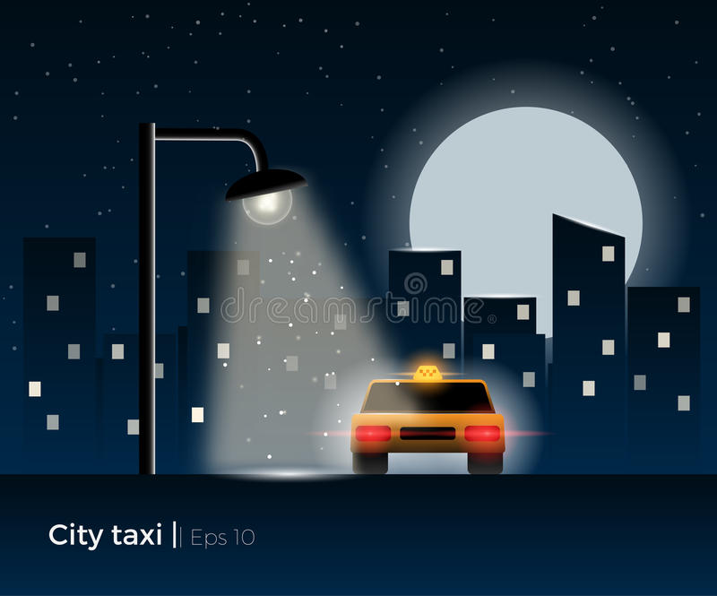 Иллюстрация автомобиля такси иллюстрация штока