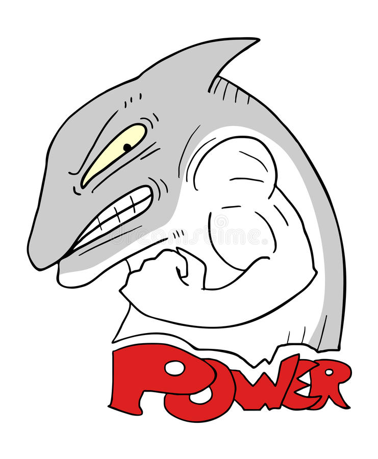Иллюстрация акулы силы бесплатная иллюстрация