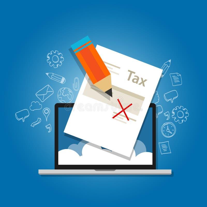 Иллюстрация амнистии налога, правительство прощает обложению иллюстрация вектора