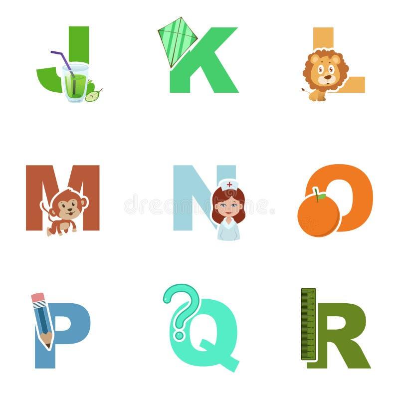 Иллюстрация алфавита иллюстрация вектора