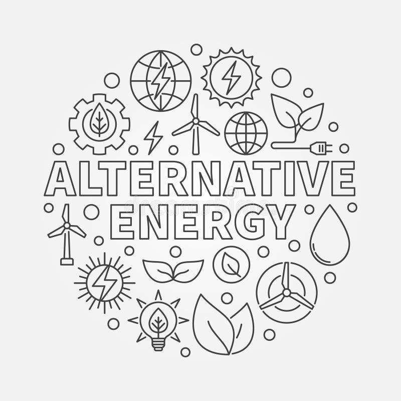 Иллюстрация альтернативной энергии круглая бесплатная иллюстрация