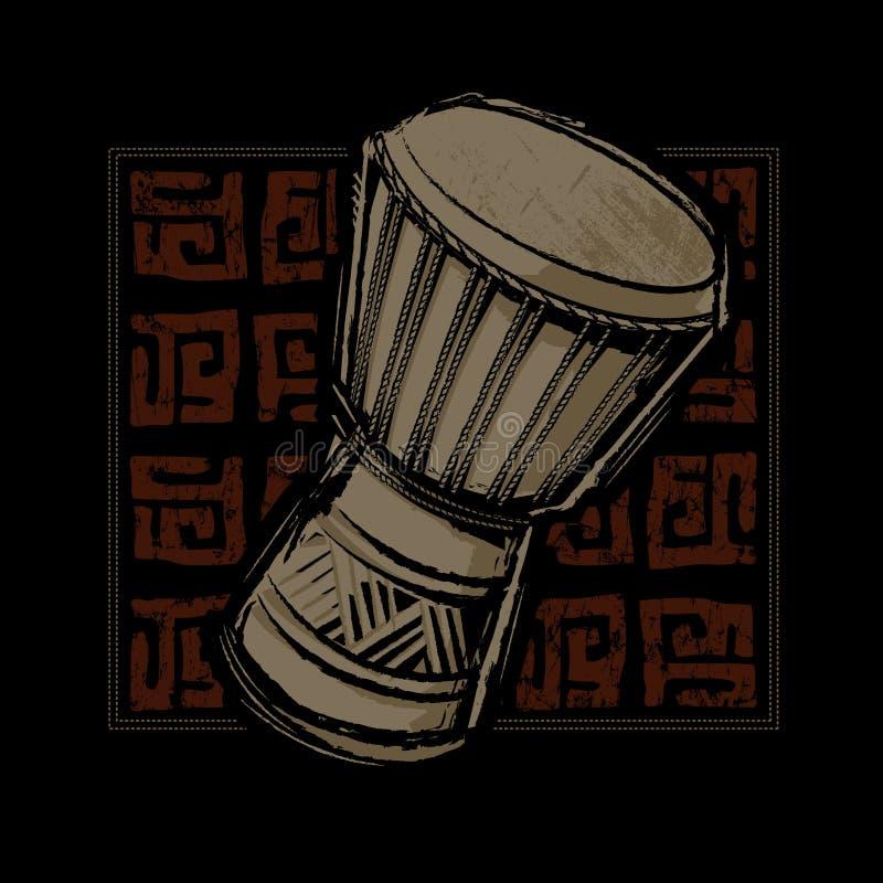 Барабанчик Djembe африканца бесплатная иллюстрация