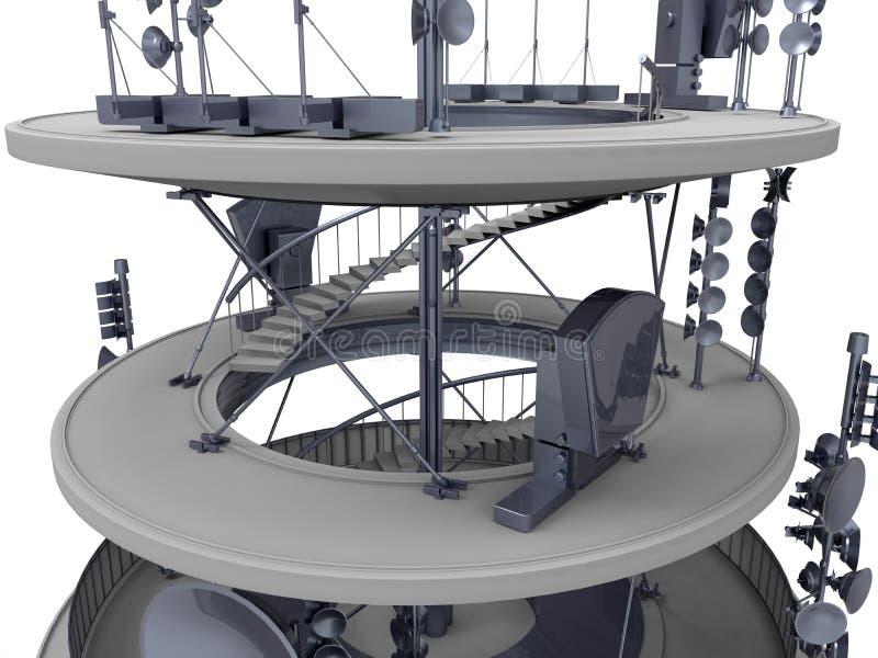 Иллюстрация башни связи бесплатная иллюстрация