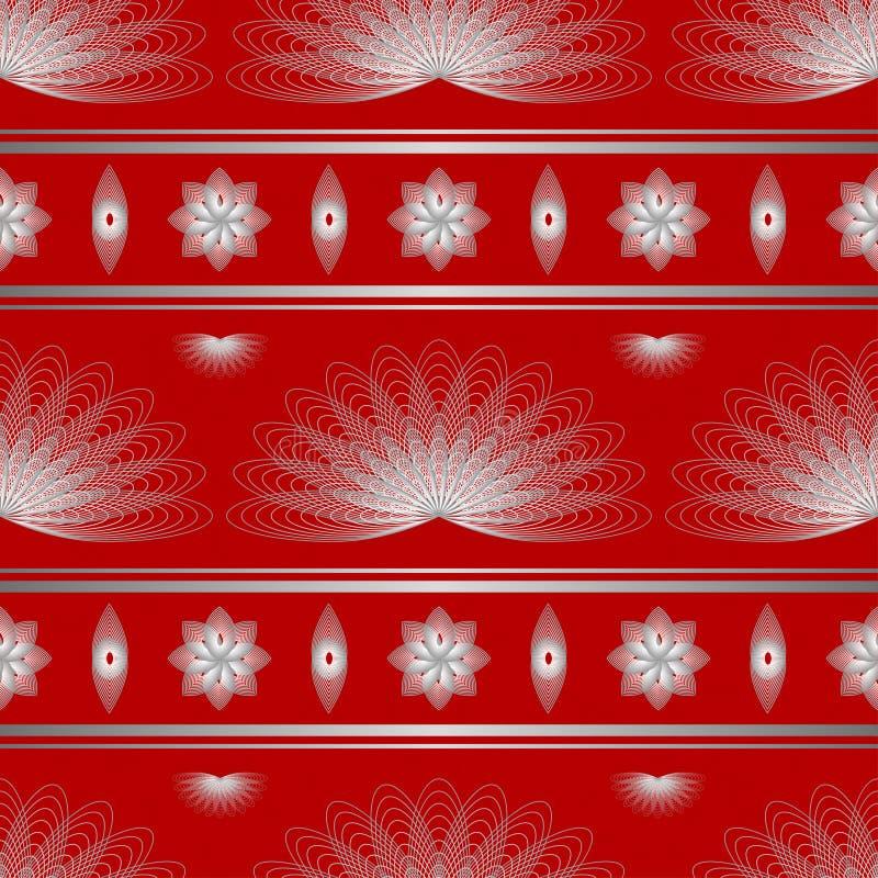 Иллюстрация безшовного †цветочного узора « иллюстрация вектора