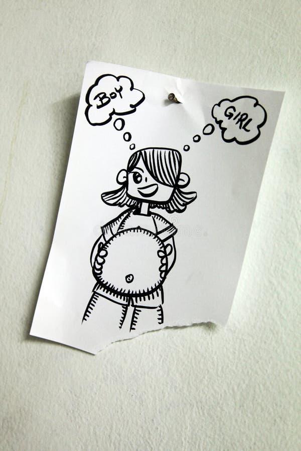 Иллюстрация беременной женщины стоковое изображение