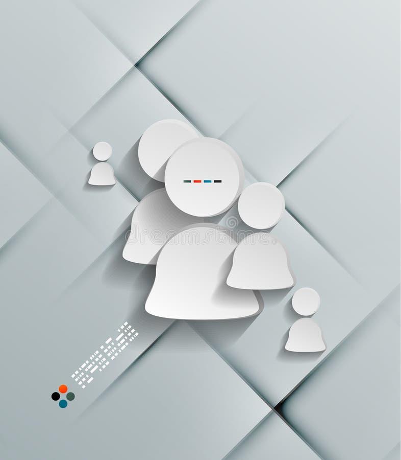 Иллюстрация белого значка потребителя стикера иллюстрация вектора