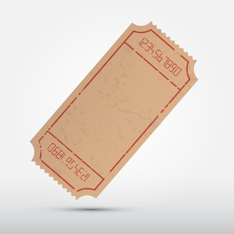 Иллюстрация билета вектора пустая бесплатная иллюстрация