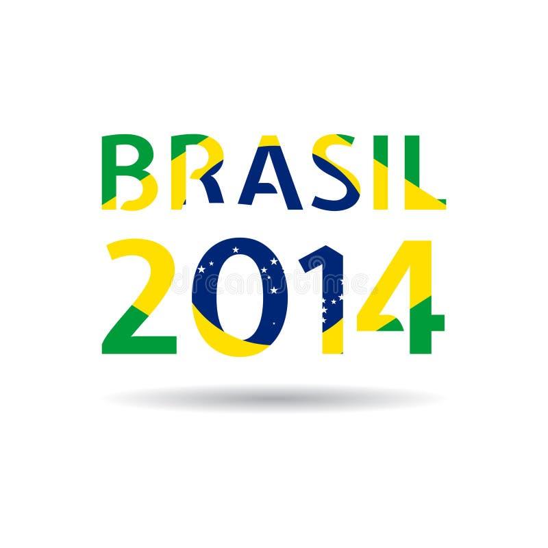 Иллюстрация Бразилия 2014 вектора иллюстрация вектора