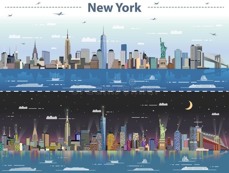 Иллюстрация вектора абстрактная Нью-Йорка на все время бесплатная иллюстрация