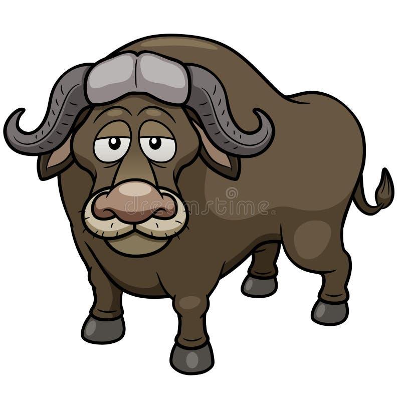Африканский шарж буйвола иллюстрация вектора