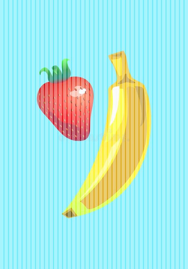 картинка где нарисован банан клубника и еще вернулся российский