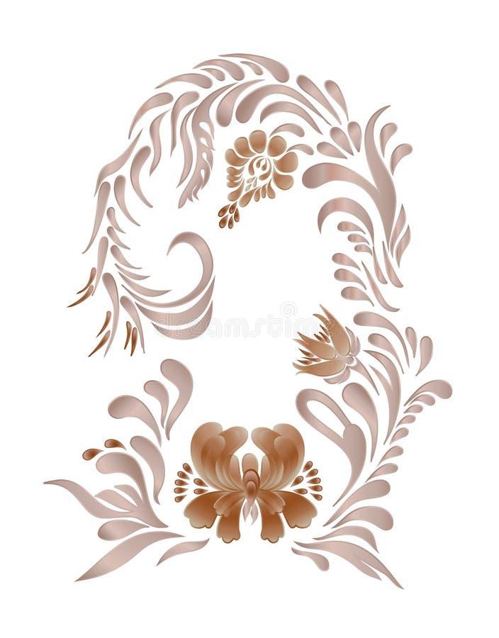 Иллюстрация вектора Брайна винтажная флористическая бесплатная иллюстрация