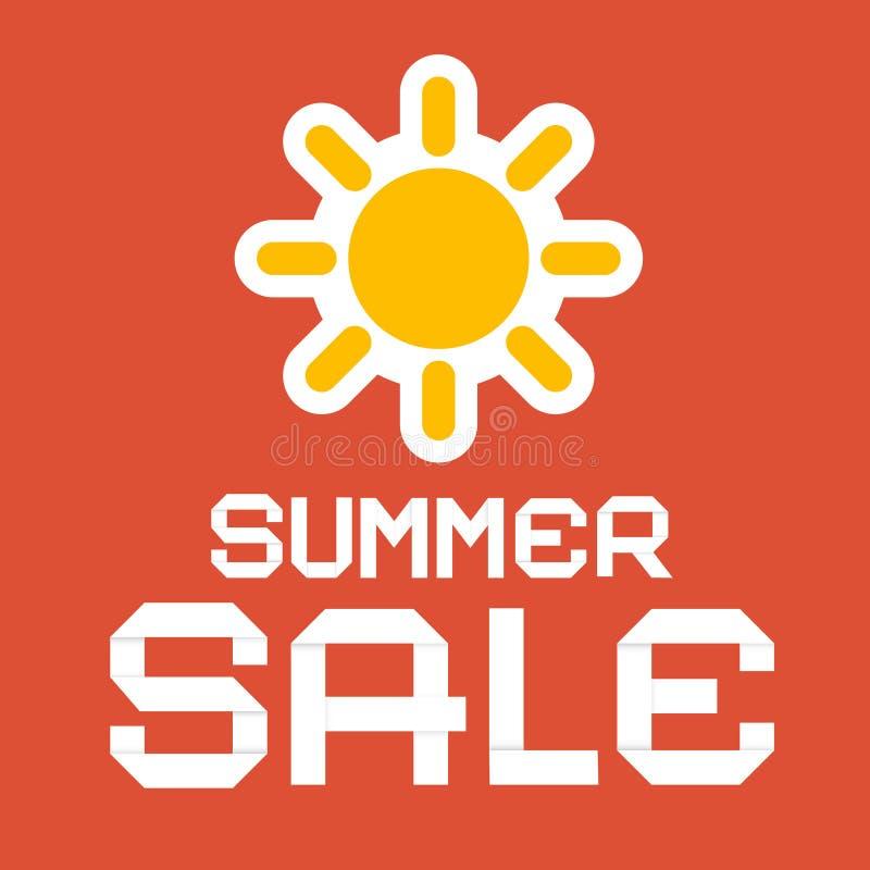 Иллюстрация вектора бумаги продажи лета бесплатная иллюстрация