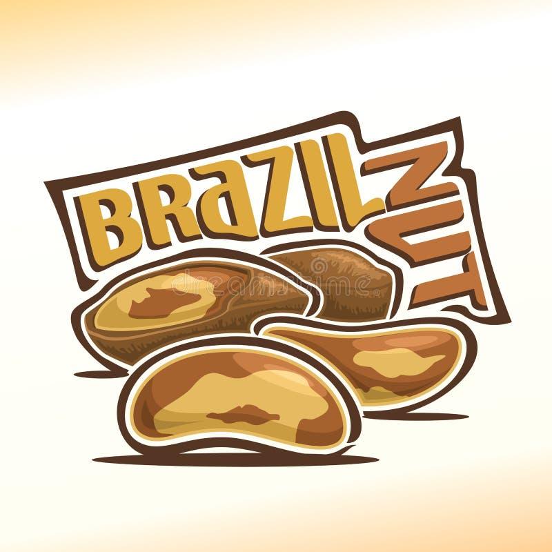 Иллюстрация вектора гаек Бразилии иллюстрация штока