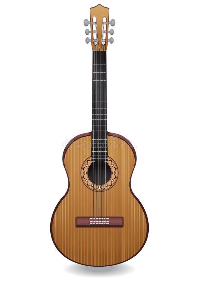 Иллюстрация вектора гитары Классическая музыкальная аппаратура бесплатная иллюстрация