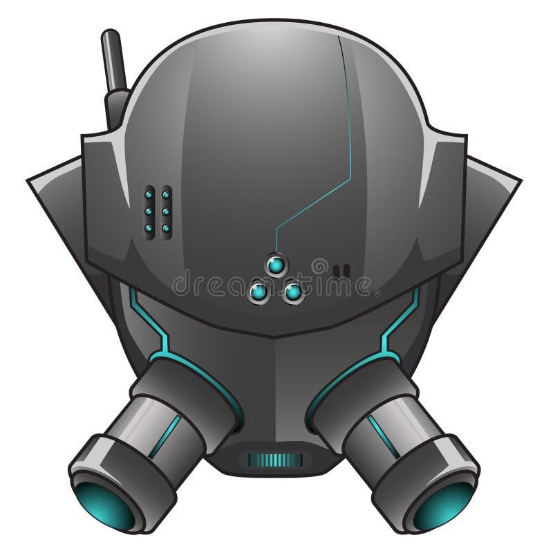 Иллюстрация вектора головы робота иллюстрация вектора