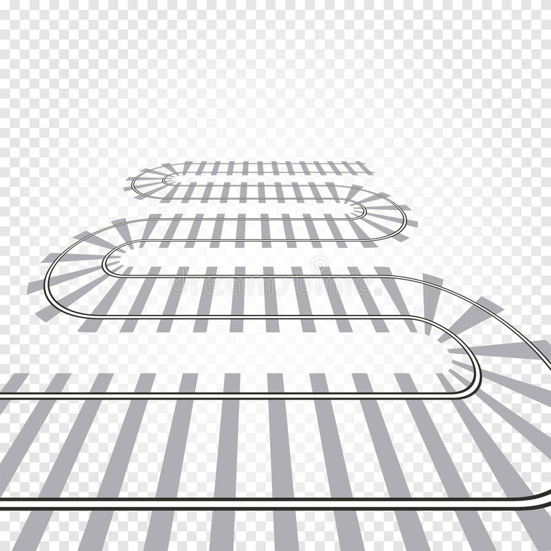Иллюстрация вектора железнодорожного пути рельса железнодорожный поезд Дорога пути замотки иллюстрация штока