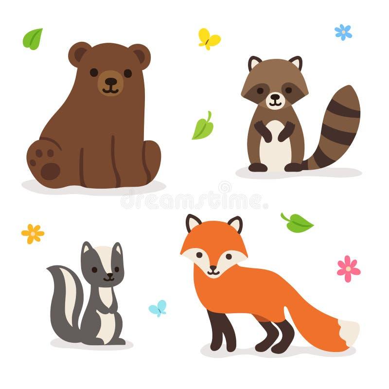 Иллюстрация вектора животных леса иллюстрация штока